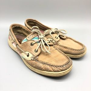 🔥 Sperry pastel plaid leather boat shoe